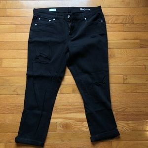 Black Ripped Gap Jean